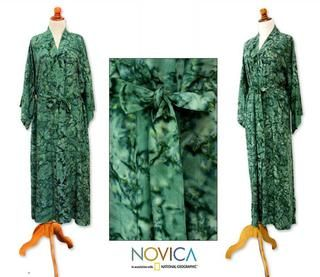 Rayon Green Destiny Robe (Indonesia)