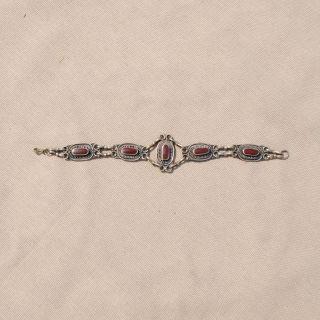 Hand made Burgundy Chain Bracelet (Afghanistan)