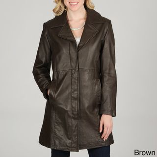 Excelled Womens Leather City Coat