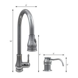 Dyconn Faucet 18 Modern Kitchen Polished Chrome Pull Out Faucet With