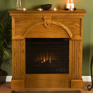 Luxemburg Golden Oak Electric Fireplace
