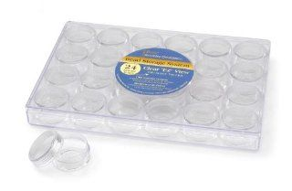 Darice 2025 251 Clear Bead Container with 24 Storage Jars