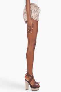 Haute Hippie Drawstring Silk Shorts for women