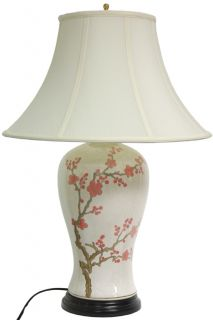 29 inch Cherry Blossom Vase Lamp (China)