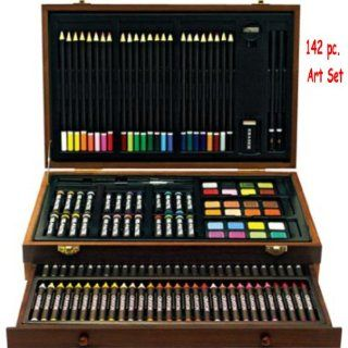 Arts and Crafts 142 Pc Deluxe Wood Art Set Everything