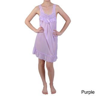 Journee Collection Womens Rosette Accent Satin Nightgown