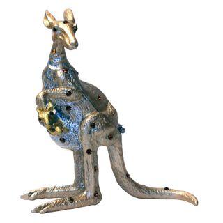 Cristiani Kangaroo Pewter Trinket Box