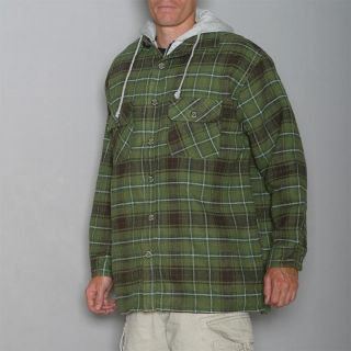 Stillwater Supply Co. Mens Olive Flannel Hoody