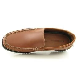 Johnston & Murphy Mens Brown Westerly Ven Loafers