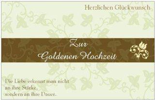 Glückwunschkarte Geburtstagskarte Goldene Hochzeit Hochzeitskarte