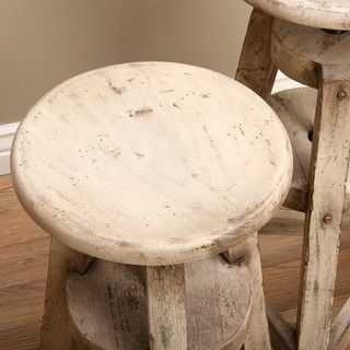 Steiner Wooden Stools (Set of 2) (Indonesia)