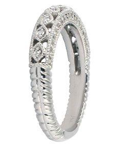 14k White Gold 1/2ct TDW Diamond Antique Ring (I J, I1 I2)