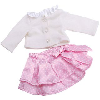 Springfield Collection Pink Skirt White Top 18 inch Doll Outfit Today
