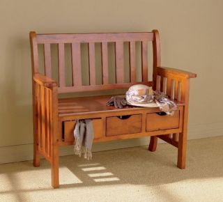 drawer Country Bench