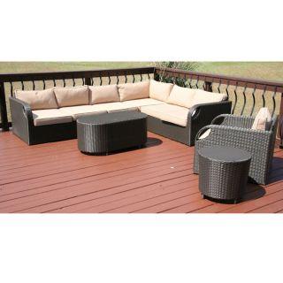 Savannah Classics Belize Outdoor Resin Wicker Patio Furniture Set