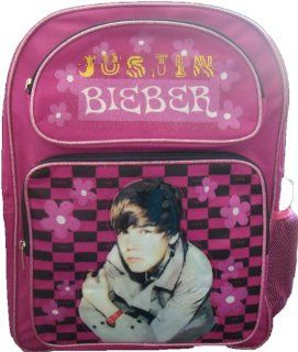 Justin Bieber Pink Medium Size Backpack with Side Mesh