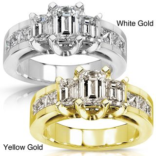 14k Gold 2ct TDW Certified Diamond Engagement Ring (H I, SI1 SI2