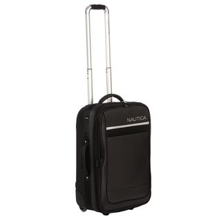 Nautica Harbour Black/ Silver 21 inch Rolling Expandable Carry on