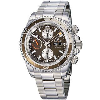 Kadloo Mens Windward Master Brown Dial Chronograph Watch