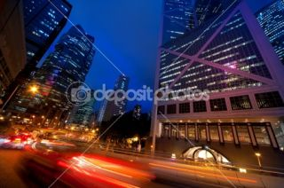 Fast moving cars at night  Foto stock © Andrejs Pidjass #1420819