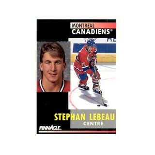 1991 92 Pinnacle French #139 Stephan Lebeau: Collectibles