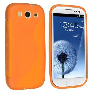 BasAcc Orange TPU Rubber Skin Case for Samsung© Galaxy S III/ S3