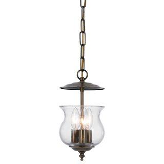 Ascott 3 light Pendant in Antique Brass