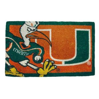 Miami Hurricanes 18 x 30 Door Welcome Mat