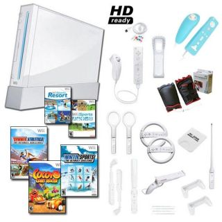Nintendo Wii White Mega Holiday Bundle with 20 Games and Much More