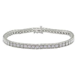 Miadora Sterling Silver 3ct TDW Diamond Bracelet (H I, I2 I3