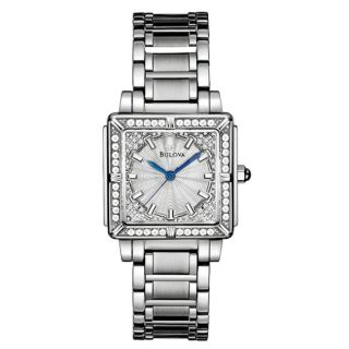 Bulova Womens Diamonds Stainless Steel Quartz Watch