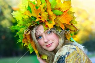 Miss Autumn  Foto Stock © Roman Sigaev #1441623