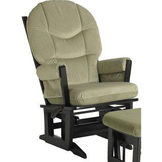 Dutailier Ultramotion Modern Sage Green Microfiber Glider Chair