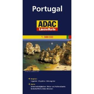 ADAC Länderkarte Portugal 1400.000 Register Legenden, Citypläne