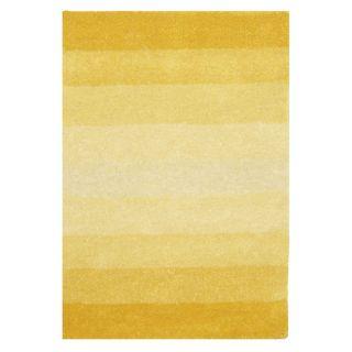 Hand tufted Yellow Stripe Wool Rug (5 x 8)