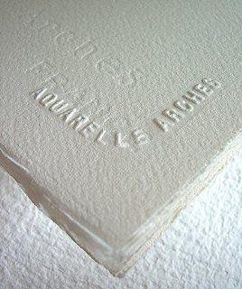 Arches Watercolor Paper 140 lb. cold press natural white