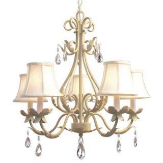 Woodbridge Lighting Alexandria 5 light Washed Gold Chandelier