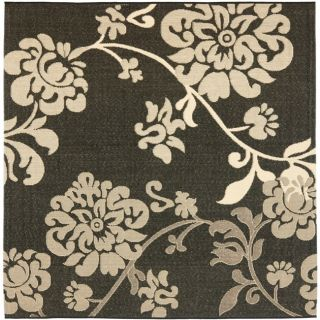 Poolside Black/ Natural Indoor Outdoor Rug (67 Square)