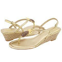 Lilly Pulitzer Sweet Pineapple Wedge Gold Metallic