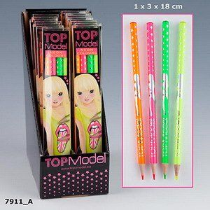 TopModel Neonstifte Buntstifte Neon Stift 4er Set orange pink gelb