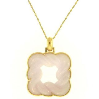 Mason Kay 14k Yellow Gold Lavender Jade Knot Necklace