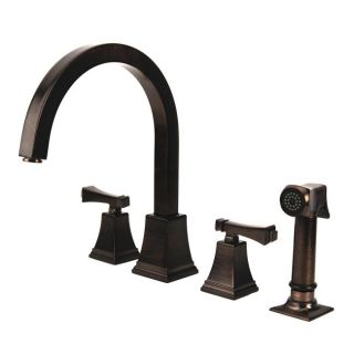 Fontaine Patiglia Brushed Bronze Side Spray Kitchen Faucet