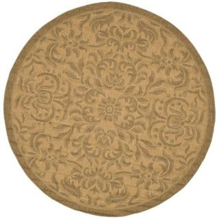 Indoor/ Outdoor Natural/ Gold Rug (67 Round)