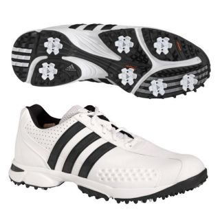 Adidas Mens FitRX White/Black Golf Shoes