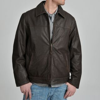 Mens Rugged Leather Jacket