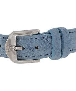 Movado Womens Vizio Sports Blue Ostrich Strap Watch