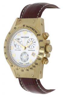 Vanceur Mens Royal Horse White Dial Chronograph Watch