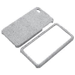 BasAcc Silver Diamond Snap on Case for Apple iPhone 4/ 4S
