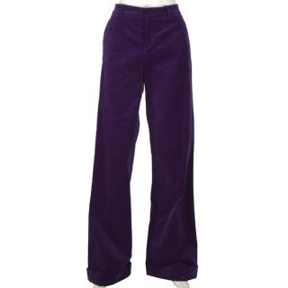 Gucci Womens Purple Velour Wide Leg Trousers