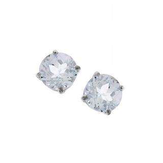 14k White Gold Round Aquamarine Earrings Today $79.99 4.0 (28 reviews